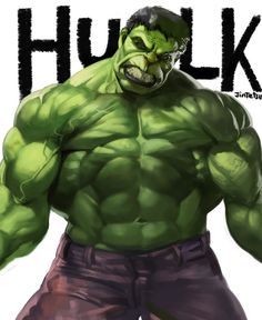 HULK, jintetsu ( ^ω^ ) on ArtStation at https://www.artstation.com/artwork/hulk-449d88d6-cfe1-43e9-ace7-680adc712e09
