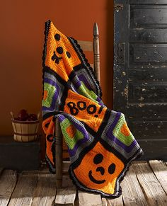 Ravelry: Pumpkin Face Throw pattern by Michele Wilcox
