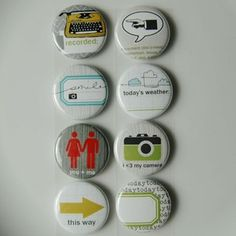 """Have 1"""" buttons made for party times!"""