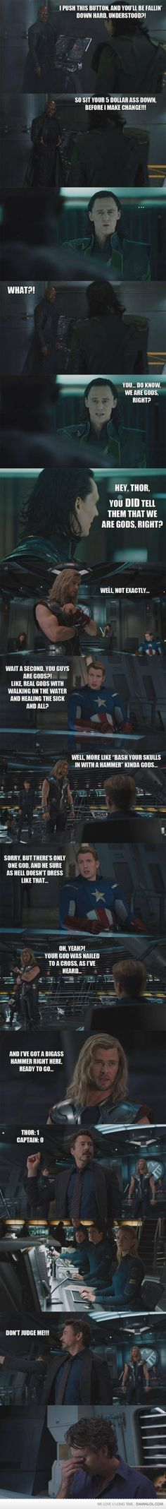 Avengers - We are gods - http://www.jokideo.com/