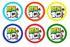 Liz loves Lexi and Arkin: Cupcake Toppers - Ben Ten and Barney