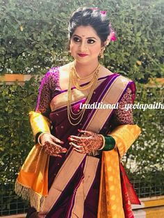 bridal jewelry for the radiant bride Bridal Hairstyle Indian Wedding, Indian Bridal Sarees, Indian Bridal Outfits, Indian Bridal Fashion, Indian Bridal Wear, Indian Beauty Saree, Wedding Dresses For Girls, Bridal Dresses, Marathi Bride