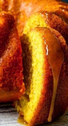 Pumpkin Yogurt Cake Recipe ~ Wonderfully moist and light bundt cake