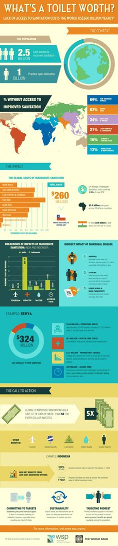 2.5 Billion People Don't Have Access To A Toilet. Here's Why You Should Care. [INFOGRAPHIC]: