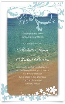 Layered Wedding Invitations   Hawaii