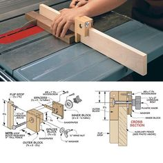 trendy diy table saw accessories Woodworking Table Saw, Used Woodworking Tools, Woodworking Patterns, Woodworking Crafts, Woodworking Plans, Woodworking Workshop, Woodworking Jigsaw, Woodworking Furniture, Popular Woodworking