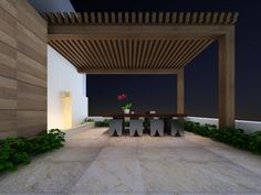 #Jardín bonito y útil con #Interceramic. Producto: Piso Imperial Quartz, Líneas Slate Supremo y Oakwood.