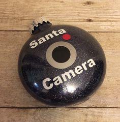 Personalized Santa Camera Ornament, Personalized Ornament, Elf Camera, Santa Cam by Rosescraftyboutique on Etsy