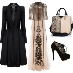 A fashion look from November 2014 featuring Temperley London blouses, Alexander McQueen coats and Temperley London skirts. Browse and shop related looks.