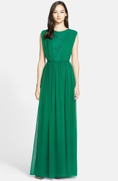 St. John Collection Silk Chiffon Gown
