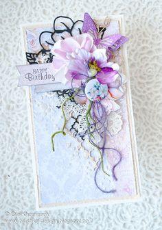 LikeArtStudio by Ola Khomenok: Romantic Birthday cards. Scrap & Craft DT.