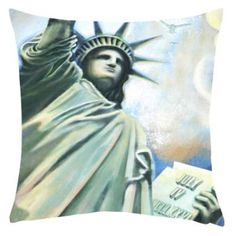 Stench Of Liberty Printed Cushion Cover