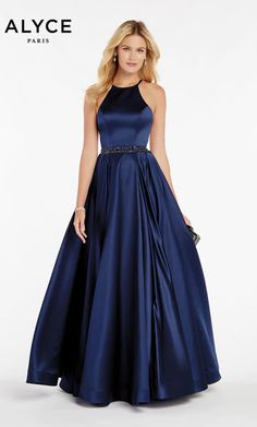 Check out the latest Alyce Paris 60417 dresses at prom dress stores authorized by the International Prom Association. Pagent Dresses, Pretty Prom Dresses, Prom Dresses Blue, Satin Dresses, Simple Dresses, Beautiful Dresses, Evening Dresses, Formal Dresses, Wedding Dresses