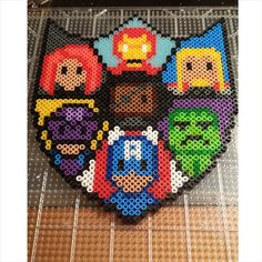 Avengers shield perler beads by brightcolorsandwideeyes - Pattern: https://de.pinterest.com/pin/374291419012975014/
