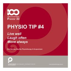 Live well, laugh often #physiotips #100years