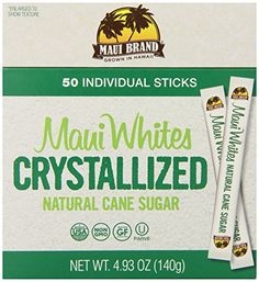 Maui Brand, Maui Whites Crystallized Natural Cane Sugar, 50 Count (Pack of 12) -- SPECIAL OFFER AHEAD! : baking desserts recipes