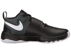 Nike Kids Team Hustle D8 (Big Kid) Boys Shoes Black/Cool Grey/Vintage Green