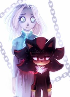 Shadow and Maria Shadow The Hedgehog, Sonic The Hedgehog, Hedgehog Art, Silver The Hedgehog, Shadow And Maria, Shadow Images, Rouge The Bat, Sonic Franchise, Sonic Adventure