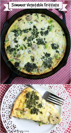 Corn Asparagus Pesto Frittata © Jeanette's Healthy Living #corn #asparagus #breakfast #breakfast #brunch #recipe