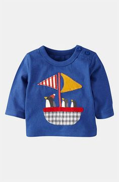 Mini Boden 'Animal Adventures' T-Shirt (Infant) - ShopStyle Baby Boy Fashion, Kids Fashion, Penguin Animals, Teddy Bear Clothes, Nautical Baby, Mini Boden, New Girl, Toddler Outfits, Kids Wear