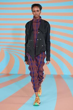Kiko Kostadinov Fall 2020 Ready-to-Wear Fashion Show - Vogue Vogue Paris, Fall Fashion Trends, Autumn Fashion, Fall Plaid, Models, Knit Fashion, Fashion Show Collection, Fall Looks, Mannequins