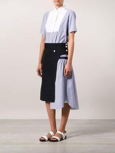 Sacai Contrast Apron Dress - The Webster - Farfetch.com