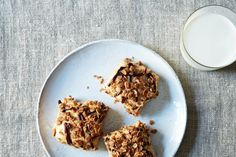 Granola Peanut Butter Icebox Bars with Oatmeal Cocoa Streusel on Food52