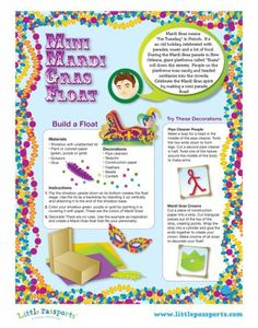 Mardi Gras Arts & Crafts Fun with Your Kids (includes free printable from Little Passports)