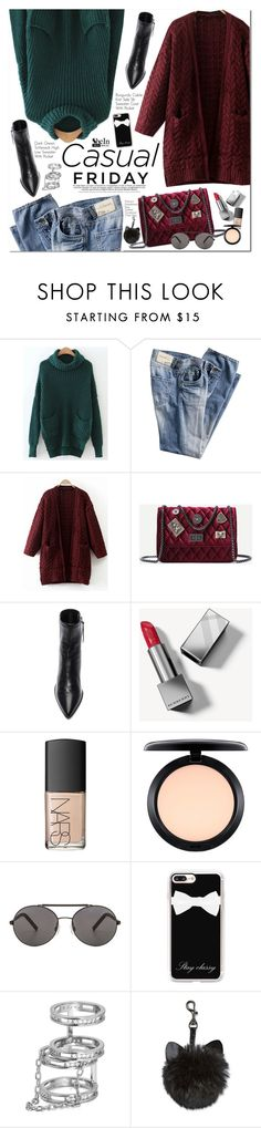 """""""Shein"""" by oshint ❤ liked on Polyvore featuring Isabel Marant, Burberry, NARS Cosmetics, MAC Cosmetics, Seafolly and Casetify"""