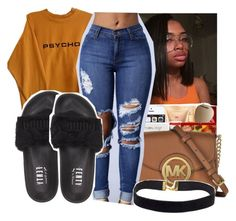 """Untitled #353"" by gabb-slayy ❤ liked on Polyvore featuring Puma"