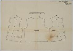 Patroontekening vest, man Bunschoten. Schaal 1:4, 1948 #Utrecht #Spakenburg