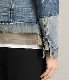0470401535c ALLSAINTS UK  Mens Daruma Denim Jacket (Light Indigo)