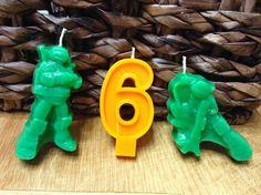 Ninja Birthday Candles 6.00 by BabyBearCrayons on Etsy