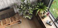 déco orientale et style industiel de salon avec meuble en bois