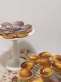 Queijadas de Requeijão e Queijadas de Amêndoa e gila// Cottage Cheese cakes and Almond and squash cakes