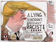 Editorial cartoon on Donald Trump and 2016 presidential election