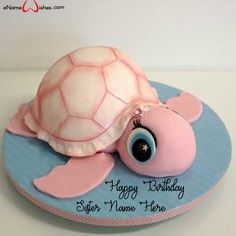 Write name on Cute Turtle Birthday Name Wish Cake with Name And Wishes Images and create free Online And Wishes Images with name online. Best Picture For birthday cake videos For Your Taste You are lo Birthday Name, Turtle Birthday, Animal Birthday Cakes, Teen Birthday, Sister Birthday, Cake Birthday, Fancy Cakes, Cute Cakes, Pink Cakes