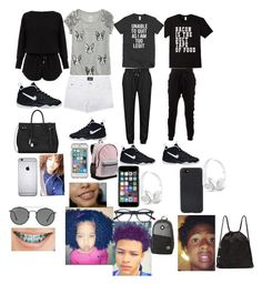 """""""Untitled #196"""" by minarieha2 on Polyvore featuring Ray-Ban, NIKE, Blood Brother, Helmut Lang, Yves Saint Laurent, Off-White, Shinola, Beats by Dr. Dre, Victoria's Secret and Element"""