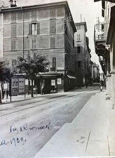Via X Giornate - 1929 http://www.bresciavintage.it/brescia-antica/cartoline/via-x-giornate-1929/