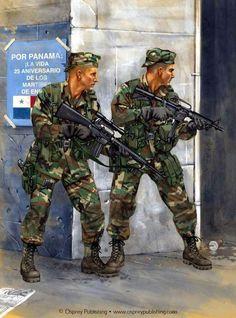 Marines USA durante la invasión de Panamá, Diciembre de 1989. http://www.elgrancapitan.org/foro/viewtopic.php?f=68&p=891233#p891233