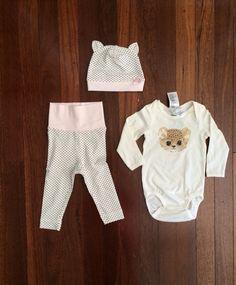 H&M White, Pink and Black Polka Dot Cheetah Set