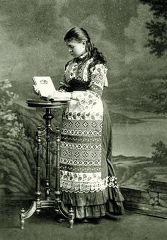 Ольга Хоружинська, майбутня дружина Івана Франка, 1880-ті роки.