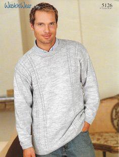 5f38fdb911107 Country Yarns. Mens Knit Sweater PatternSweater ...