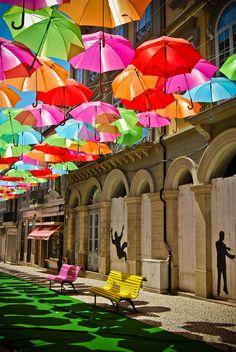 Umbrellas 1  Águeda, Portugal.