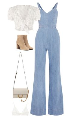 """Sem título #5400"" by fashionnfacts ❤ liked on Polyvore featuring Alice + Olivia, Oh My Love, Yves Saint Laurent, Chloé and Anine Bing"