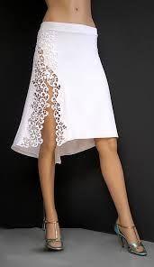 white tango skirt with slit