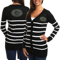 Cuce Green Bay Packers Ladies The Quarterback Sweater - Black/White