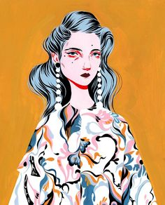 Artist & Illustrator in LA  bijoukarman.com | Love her style of illustration so much <3 <3 <3 [colourmefuchsia]