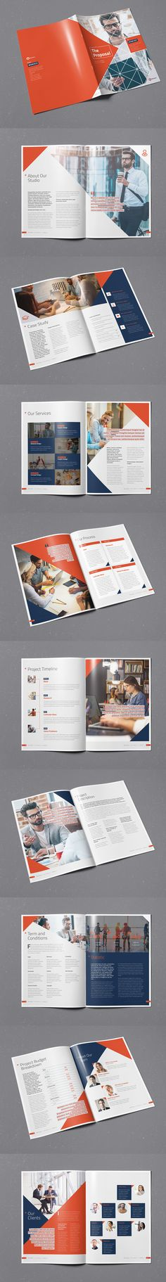 Corporate Proposal Brochure Template InDesign INDD - 20 pages, A4