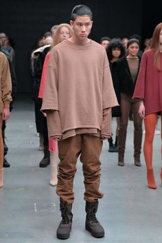 "For Fall/Winter Kanye West and adidas Originals unveil a bold new proposition: YEEZY SEASON a collection of apparel and footwear that cherishes universality and timelessness. Described by West as the world's first ""solutions-based"" clothing. Kanye West Style, Estilo Hipster, Estilo Retro, Adidas Originals, Yeezy Season 1, Season 2, Fashion Week, Mens Fashion, Streetwear"